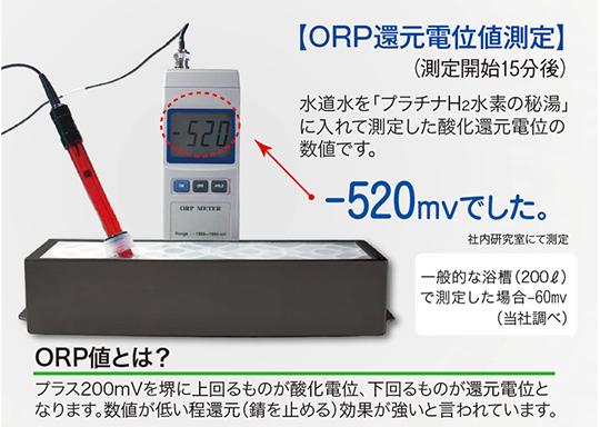 プラチナH2ORP還元電位測定