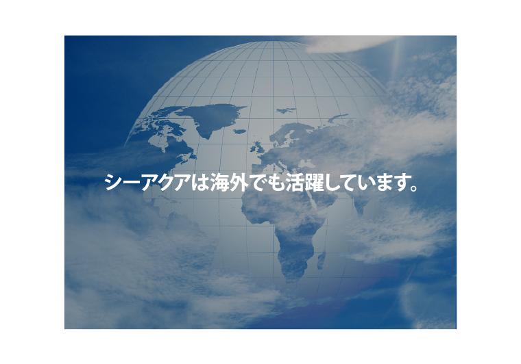 シーアクアは海外でも活躍しています