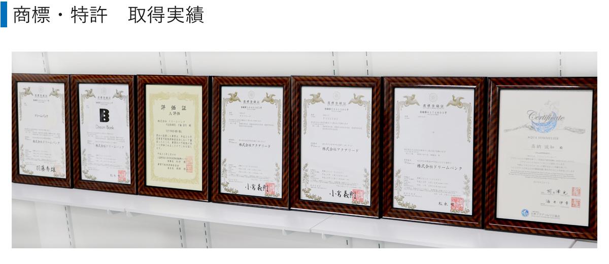 商標・特許取得実績